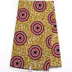 Best Quality Supreme Wax Holland Red Brown/Olive Wax Print Fabric/ Ankara fabric/ African fabric Shop/African Fabric/Sold by the yard WP752B by TessWorldDesigns on Etsy