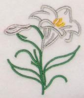 Easter Lily Embroidery Design.