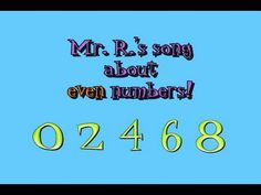 this song reviews the concepts of even numbers (and helps teach the fact that all even numbers can be 'split in half')- pause the video to ask students if the examples are even or odd. Watch Mr. R.'s odd number song here:  http://youtu.be/hMSd7wGuTT4    See more of my free math and science resources at  http://mathstory.com    LYRICS:    Split e...