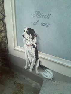 Ghirigori, Alessandra Borelli, trompe l'oeil esterno su muro
