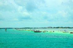 Sandbar,  Islamorada Florida Keys. We never go on the weekends to crowded but the weekdays so much fun