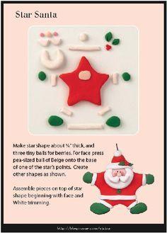 Star Santa Ornament