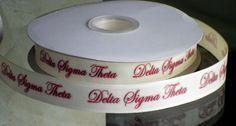 7/8 inch Custom Delta Sigma Theta Sorority Grosgrain or Satin Ribbon | jlribbongear - Handmade Supplies on ArtFire
