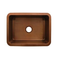 """#Whitehaus Copperhaus sink WH2519COUM rectangular undermount sink with a 3 1/2"""" center drain. Available in finishes: smooth copper (shown), smooth bronze. #coppersink #kitchen #undermount"""