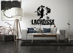 Wall Vinyl Sticker Decals Mural Room Design Pattern Art Bedroom lacrosse sport player nursery boys game play bo2656 >>> Be sure to check out this awesome product.(It is Amazon affiliate link) #photooftheday