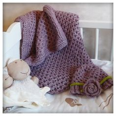 Free baby blanket and hat pattern