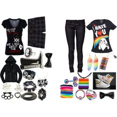 """""""Two Completely Different Outfits"""" by zoe-grimm-11 on Polyvore"""