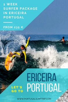 1 WEEK SURFER PACKAGE IN ERICEIRA   PROTUGAL what is included: ~ 7 nights accommodation with breakfast  ~ 7 days of full & quality surf equipment     (board + wetsuit)  ~ bed linens & towels  ~ Wi-Fi #ericeira #portugal #surfer #week #surfHoliday #travel #surf #waves #enjoy #active #holiday #with #portugalsurftrip Ericeira Portugal, Surf Trip, Yoga Retreat, Bed Linens, Wi Fi, Wetsuit, Towels, Have Fun, Surfing