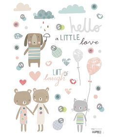 Planche de stickers A3 chambre d'enfant et bébé : Lots of laugh