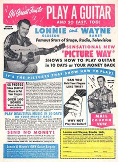 Monster Size Ghost: vintage / retro comic book ads 1940s 1950s 1960s 1970s: It's Great Fun to Play a Guitar (and So Easy Too!)...