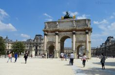 Here you can see the Arc de Triomphe du Carrousel which acts as an entrance towards the Louvre Museum which can be seen behind it, showing just how many people walk by and through the structure.  Want to learn more? Go to www.eutouring.com