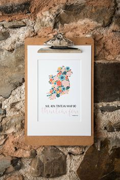 Níl aon tinteán mar do thinteán féin - Irish print - There's no place like home - Wizard of Oz - Wonderful wizard of Oz - Frank L. Baum - Ireland - wildflowers - floral - home is where the heart is - love Ireland - typography - wall art - - colourful - Dandelion Designs, Classic Quotes, Love Ireland, Better Love, Wizard Of Oz, Where The Heart Is, Wildflowers, A5, House Colors