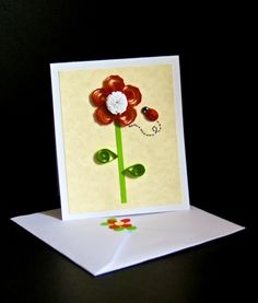 Quilling card from www.universodepapel.es