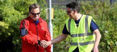 Eddie Izzard: 'Keep the volunteering spirit alive' - Runner's World Eddie Izzard, Unsung Hero, Marathon Runners, Running Inspiration, Runners World, Comedians, About Uk, Rain Jacket, Champion