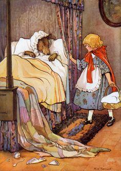 """Margaret Tarrant - """"Little red riding hood"""" Charles Perrault, Fairytale Art, Children's Book Illustration, Food Illustrations, Red Riding Hood, Little Red, Childrens Books, Illustrators, Book Art"""