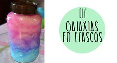 DIY - Galaxias en frascos -Tutoriales Belen #diy #manualidades #diys #tutorial #tutoriales #girl #youtuber #youtube #galaxy #galaxia #bottle #botella #frasco #beautiful #pretty #room #colours #glitter #facil #rapido