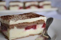 Tvarohovo-ovocný zákusok Slovak Recipes, Czech Recipes, Russian Recipes, Ethnic Recipes, Gluten Free Cakes, Something Sweet, Sweet Recipes, Food To Make, Sweet Tooth