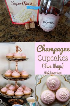 Yummy Champagne Cupcakes (Two Variations) – Fun for New Year's Eve Party – Hip2Save