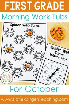 Need an easy, low-prep way to start the school day in your primary classroom? These first grade morning work tubs for October are the perfect way to begin your day while your students practice math, literacy, fine motor, and social skills. First grade morning work tubs are also a wonderful way to introduce, review, and remediate different content areas and skills in your primary classroom.