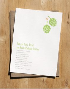 Hops Wedding Invitation