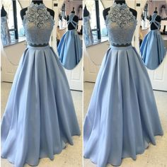 Outlet Sexy Prom Dress, Outlet Blue Prom Dress, Outlet Backless Evening Dress, Outlet Appliques Lace Prom Dress, Outlet Evening Party Dress (Outlet Prom Dress 50880)