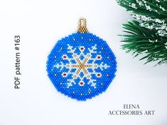Pdf Patterns, Beading Patterns, Christmas Tree Toy, Christmas Ornaments, Brick Stitch, Cute Pattern, Reindeer, Seed Beads