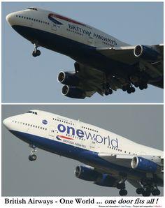 British Airways Boeing 747's with wrong doors
