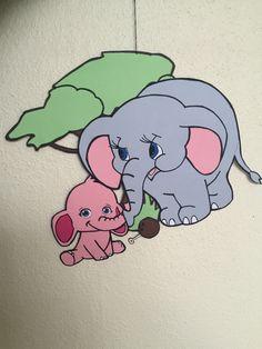 Uro Elefantens vuggevise - Elefantmor og -baby (forside)