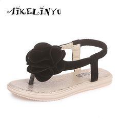 d36d349b7c1 Pantofi copii fete 2016 de vară New Fashion sandale copii dulce casual  apartamente confortabile sandale flip-flop fete papuci. Kids Sandals ...