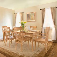Solid maple wood dining furniture handcrafted in traditional Classic Shaker style. The epitome of high quality Vermont-made furniture.
