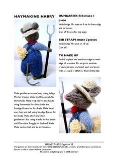 Knitting Patterns, Knitting Toys, Alan Dart, Harvest Mouse, Knit Crochet, Crochet Hats, Cast Off, Knitted Animals, Knitting