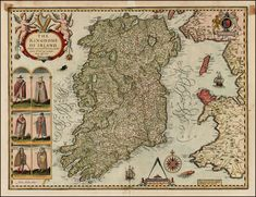 John Speed: Map of ireland 17th century