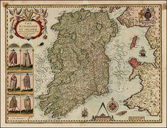 John Speed: Map of ireland 17th century