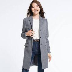 womens grey wool coats - Google Search