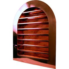 Tombstone Louvered Gable Wall Vents are made of 16 ounce copper or stainless steel.  There are many standard sizes and mounting styles available (please choose below).  Louvers are fixed and the vent is screened to keep insects and animals out.  Both copper and stainless steel look great and last much longer than standard aluminum and plastic vents.