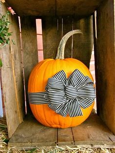 Cute pumpkin bow display