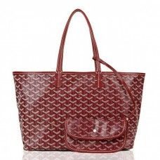 Goyard Saint Louis Tote Bag MM Burgundy