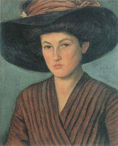 Lesser Ury - Bildnis einer jungen Dame, 1886.