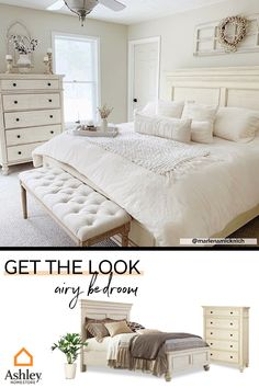 Drift off to sleep on cloud nine when you create your #dreambedroom. Coordinate the major pieces in your space to achieve a cohesive look. Bringing neutral tones into your bedroom will promote relaxation during your night-time routine. Added bonus: the subdued color palette will always been in style, and can be dressed up with seasonal accents! For more #masterbedroom inspiration, browse our pins!