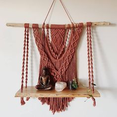 Top Tips and Tricks: Floating Shelves Laundry Ideas how to decorate floating shelves diy network.Floating Shelves Kitchen Pipe floating shelves diy how to make. Macrame Art, Macrame Projects, Macrame Knots, Diy Storage, Bathroom Storage, Kitchen Storage, Storage Ideas, Kitchen Shelves, Bathroom Shelves