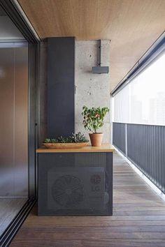 Architecture Design, Scandinavian Architecture, Air Conditioner Cover, Air Conditioning Units, Heat Pump, Outdoor Furniture, Outdoor Decor, Minimalist, Home Appliances