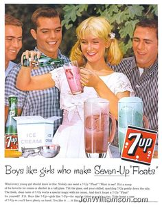 "Boys like girls who make Seven-Up ""floats"""