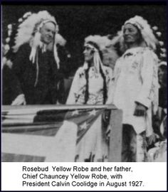 "Rosebud Yellow Robe Frantz; Daughter of Chauncy Yellow Robe; used storytelling, performance and books to introduce generations of children to Native American folklore and culture; Author of ""Tonweya and the Eagles, and other Lakota Tales"""