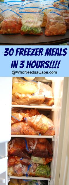 You need to make 30 Summer Freezer Meals in 3 hours! Prep, bag, freeze & slow cook your way to easy mealtimes! Aren't crockpots the best? Plan Ahead Meals, Slow Cooker Freezer Meals, Make Ahead Freezer Meals, Dump Meals, Freezer Cooking, Crock Pot Cooking, Easy Meals, Bulk Cooking, Freezer Dinner