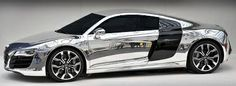chrome vehicle wraps are pure bling!
