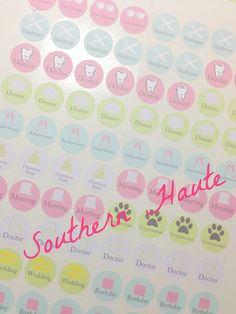 Circle Planner Event Stickers Perfect for Erin Condren, Filofax, and Plum Paper Planners