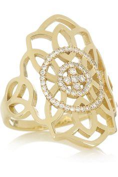 Diane Kordas   Arabesque 18-karat gold diamond ring