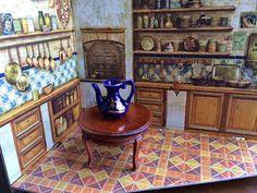 Minature Kitchen Corner Room by Jewelmoon on Etsy