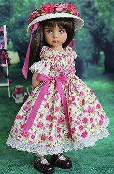 """OOAK Smocked Ensemble for Effner 13"""" Little Darling Dolls-Petite Princess Design"""