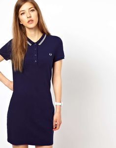 Fred Perry Twin Tipped Polo Shirt Dress at ASOS. Fred Perry, Vestidos Polo, Twin Tips, Prep Style, Camisa Polo, Polo Shirt Women, Lady, Everyday Fashion, Outfits